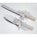 Ivory Diamond Bow Knife & Server Set