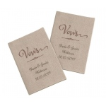 Set Of 2 Tan Vows Books Personalized