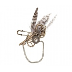 Steampunk Feather Boutonniere