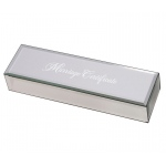 Mirrored Silver Marriage Certificate Box