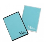 Mr. & Mrs. Aqua Passport Covers