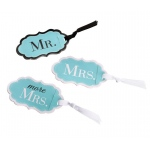 Mr., Mrs. & More Mrs. Aqua Luggage Tags