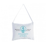 Anchored In Love Ring Bearer Pillow