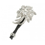 Silver Jeweled Flower Boutonniere
