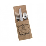 4 Rustic Burlap Silverware Holders Vineyard Personalization