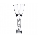 Long Stemmed Toasting Glasses With Vase