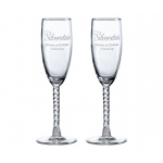Set Of 2 Toasting Glasses Script Personalization