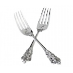 2 Silver-plated Forks Heart Monogram Personalization