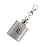 Mini Silver Flask Monogram Personalization