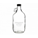 Clear Glass Growler 64 Oz Personalized