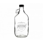 Clear Glass Growler 64 Oz Crest Personalization