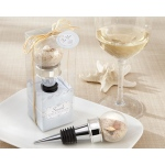 "Kate Aspen ""Seaside"" Sand and Shell-Filled Globe Bottle Stopper"