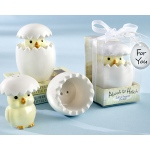 "Kate Aspen ""About to Hatch"" Ceramic Baby Chick Salt & Pepper Shakers"