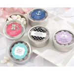 "Kate Aspen ""Simply Sweet"" Round Candy Tin - Wedding (Set of 12) (Available Personalized)"