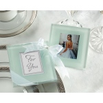 Kate Aspen Forever Photo Frosted Glass Coasters