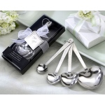 "Kate Aspen ""Love Beyond Measure""  Heart-Shaped Measuring Spoons in Gift Box"