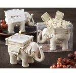"Kate Aspen ""Lucky Elephant"" Antique Ivory - Finish Tea Light Holder"