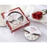 "Kate Aspen ""A Slice of Love"" Stainless-Steel Pizza Cutter in Miniature Pizza Box"
