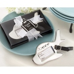 Kate Aspen Airplane Luggage Tag in Gift Box with suitcase tag