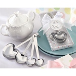 "Kate Aspen ""Love Beyond Measure"" Stainless-Steel Measuring Spoons Baby Shower Favor"