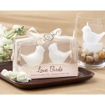 "Kate Aspen ""Love Birds"" White Bird Tea Light Candles"