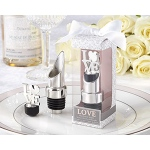 "Kate Aspen ""LOVE"" Chrome Pourer/Bottle Stopper"