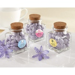 "Kate Aspen ""Petite Treat"" Square Glass Favor Jar - Baby (Set of 12) (Available Personalized)"