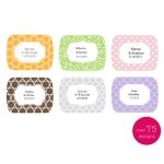 Kate Aspen Small Rounded Rectangle Sticker