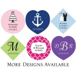 Kate Aspen Personalized Tags (Set of 36)