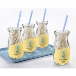 "Kate Aspen ""Vintage"" Milk Bottle Favor Jar - Birthday (Set of 12) (Available Personalized)"