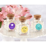 "Kate Aspen ""Petite Treat"" Square Glass Favor Jar - Religious (Set of 12) (Available Personalized)"