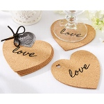 "Kate Aspen ""Heart"" Cork Coasters"