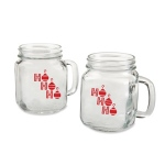 Kate Aspen Ho Ho Ho 16 oz. Mason Jar Mug (Set of 4)