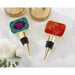 Kate Aspen Personalized Gold Bottle Stopper with Epoxy Dome - Indian Jewel