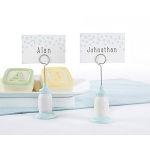 Kate Aspen Classic Blue Baby Bottle Place Card Holder (Set of 6)