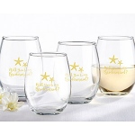 Kate Aspen Will You Be My Bridesmaid Beach Tides 15 oz. Stemless Wine Glass (Set of 4)