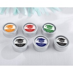 Kate Aspen Personalized Silver Round Candy Tin - Congrats Graduation Cap (Set of 12)