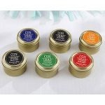 Kate Aspen Personalized Gold Round Candy Tin - ConGRADulations! (Set of 12)