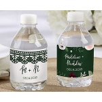 Kate Aspen Personalized Romantic Garden Water Bottle Labels - Lace and Floral Designs