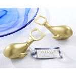 Kate Aspen Antique Gold Whale Bottle Opener