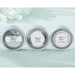 Kate Aspen Personalized Silver Round Candy Tin - Silver Foil (Set of 12)