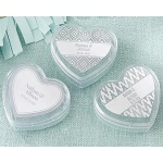 Kate Aspen Heart Favor Container - Silver Foil (Set of 12)
