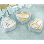 Kate Aspen Heart Favor Container - Gold Foil (Set of 12)