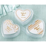 Kate Aspen Heart Favor Container - Copper Foil (Set of 12)