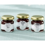 Kate Aspen Personalized Strawberry Jam - Silver Foil (Set of 12)
