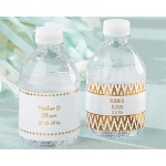 Kate Aspen Personalized Water Bottle Labels - Copper Foil