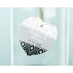 Kate Aspen Personalized Heart Foil Tag - Silver (Set of 36)
