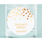 Kate Aspen Personalized Circle Foil Tag - Copper (Set of 36)