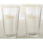 Kate Aspen #Celebrate 16 oz. Pint Glass (Set of 4)
