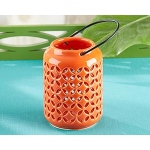 Kate Aspen Tropical Chic Ceramic Cutout Lantern